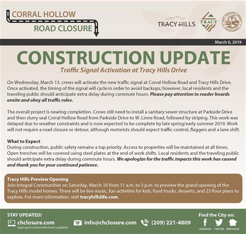 Construction Update - Tracy Hills