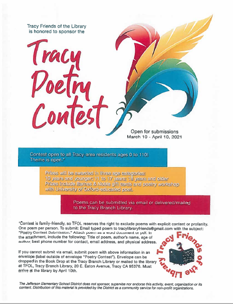 Tracy Poetry Contest